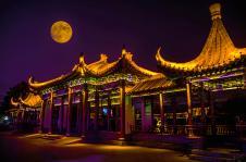 微山湖天狗吃月亮