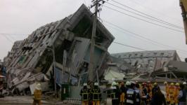 台南地震现场