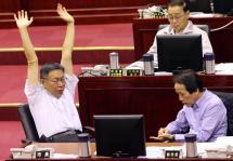台北市长柯文哲11月4日出席市政总质询