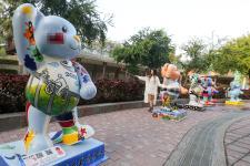 """台湾""""乐活熊城市嘉年华""""活动,一百只泰迪熊进驻台中文心公园"""
