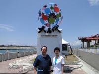 环球电视台派员采访花莲国际石雕艺术季