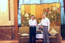 张志军会见台北市长柯文哲