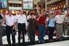 台湾地区退伍军人在台北等14县市同步举办敬军活动