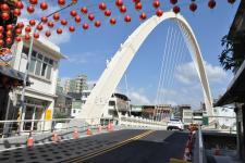 """台湾桃园区""""南通桥""""重建 重新命名为""""新春桥"""""""