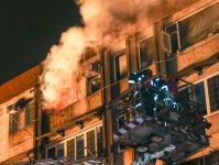 台北市11日凌晨发生火灾意外 火警顺利救出4人伤势均无大碍
