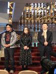 """叶瑞美和导演叶天伦、余天为""""猪哥亮永恒时代展""""剪彩揭幕"""