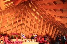新竹县新埔生态园区打造无墙无瓦无灯无油漆的王禅祖庙