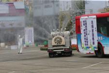 蔡英文亲临督导观看台中花博的消防灾害防救演练