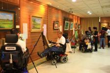台湾国际口足画家联展在竹东镇树杞林文化馆开幕