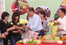 游锡坤等召开有机农业促进法规通过记者会暨有机农特产品展售活动