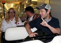 保罗•路德11日凌晨抵达桃园机场