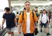韩星Gary搭机从首尔抵达松山机场