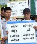 多个劳团与移工呼吁政府要求资方厂住分离