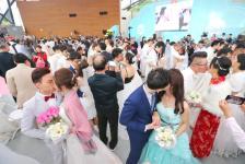 台北市第218场联合婚礼在花博舞蝶馆举行